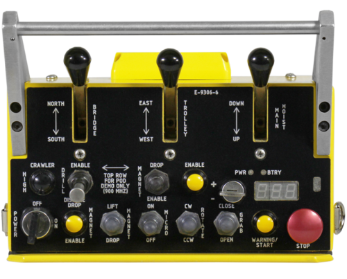 The LM is a rugged, lightweight metal transmitter. Designed in a bellybox style, the LM is available in configurations of up to 6 levers.