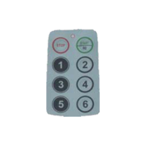 TM6000 Numeric Face Plate (shown) Part Number: 701P00085 TM2000 Numeric Face Plate Part Number: 701P0045